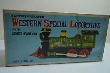 VINTAGE BATTERY OPERATED WESTERN SPECIAL LOCOMOTIVE  PLASTIC TIN TRAIN WORKS