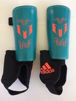 New L Large Adidas Messi Performance 10 Youth Soccer Shinguards Shin Guards