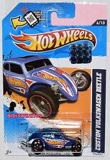HOT WHEELS 2012 HW RACING CUSTOM VOLKSWAGEN BEETLE BLUE FACTORY SEALED