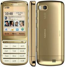 BRAND NEW GOLD NOKIA C3-01 SIM FREE PHONE - BLUETOOTH - 5MP CAMERA - 3G - WIFI