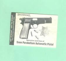Browning  Model Hi-Power Pistol Earlier Owners Manual Reproduction