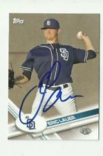 San Diego Padres ERIC LAUER  Signed 2017 Topps Pro Debut Card #195