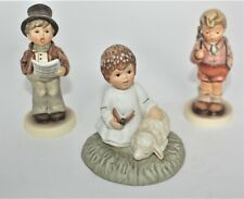 Lot of 3 Hummel Goebel Berta Little Blessings, Lamplight Caroler, One Two Three