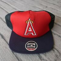 Vintage New California Angels Mesh Fitted Hat Cap 90s Anaheim Los Angeles