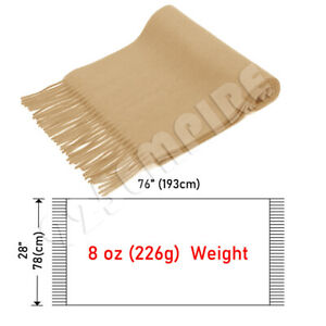 Men's Oversized Scarf Solid Plain Shawl Wrap Winter Warm Blanket