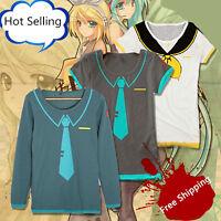 NEW Vocaloid Cosplay Long Sleeve T Shirt HATSUNE MIKU Anime Costume Hoodie