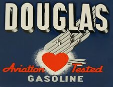 """TIN SIGN """"Douglas Aviation""""   Gas-Oil   Signs  Rustic Wall Decor"""