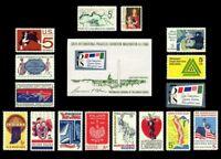 1966 Year Set of 16 Commemorative Stamps & S/S Mint NH - Stuart Katz