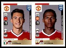 Panini FIFA 365 2016 - Darmian – Valencia Manchester Utd No. 318 - 319