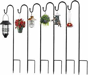 4/6PCS 100cm x 8mm SHEPHERDS CROOK HOOK Garden Lantern Hanging Basket Metal UK