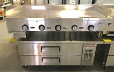 """NEW 60"""" Griddle On Chef Base Refrigerator Flat Grill Thermostat Temperature"""