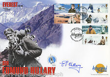 Ed Hillary SIGNED AUTOGRAPH FDC 50th Anniversary of Everest AFTAL UACC