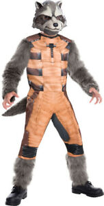 Child Unisex DLX ROCKET RACCOON Marvel Guardians of the Galaxy Costume