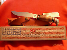 CASE XX CA-386 HUNTING KNIFE WITH LEATHER SHEATH - NEW IN BOX