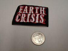 Earth Crisis Fuzzy Logo IRON ON EMBROIDERED PATCH NEW [Hardcore Punk]