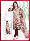 Ethnic Indian Designer Printed Crepe Salwar Kameez Unstitched Suit D.No V1762