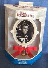 It's A Wonderful Life Porcelain Christmas Ornament-Jimmy Stewart George Enesco