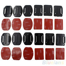 12pcs Helmet Flat Curved Adhesive Mount Stickers For Gopro Hero 1 2 3 3+ On Sale