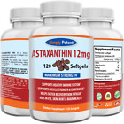 Astaxanthin 12mg 120 Softgels, Huge 4 Month Supply, Natural Gluten Free Gel Caps