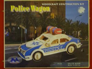 Wood Kit Wooden Doll Pegging Game Police Car Vorgestanzte Panel