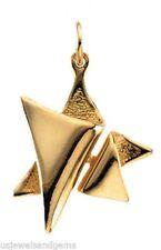 New 14k Yellow Gold Star of David Jewish Pendant