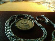"Silver Hailé Selassié Lion of Judah Pendant 28"" Italian Silver Rope Chain- 28mm"