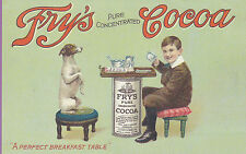 FRY'S  -  NOSTALGIC  REPRODUCTION  OF  A  VERY  RARE  ADVERTISEMENT  POSTCARD
