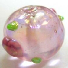 10 pieces 12mm Lampwork Glass Round Beads - Pale Pink - A4524