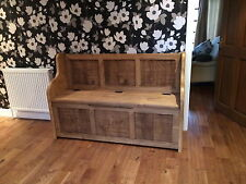 5 ft Rustic Plank Style Monks Bench/Settle/Pew With Storage (MADE TO ANY SIZE)