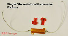1x LED bulb TURN signal Light Load  Pair Resistor 50W 6OHM Fix Error Free Light