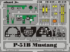 Eduard zoom fe219 1/48 nord-américains p-51b mustang tamiya
