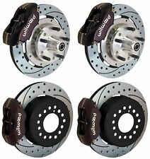 WILWOOD DISC BRAKE KIT,COMPLETE,64-72 CHEVELLE,BLACK,DR