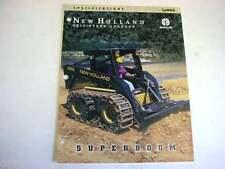 New Holland LX985 Skid Steer Loader Color Sales Brochure 1998