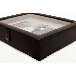 """Acrylic Lid Portrait Box 14x11 with 10 Frame Mounts for 10x8""""/ 12x8"""" images"""