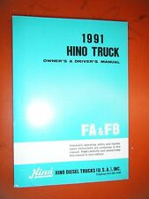 1991 HINO TRUCK ORIGINAL FACTORY OWNER'S DRIVER'S MANUAL MODELS FA FB