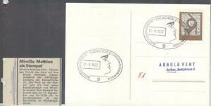 Briefmarken Bund Sonderstempel Mireille Mathieu