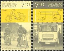 Croatia 2013 Europa/Postal Transport/Post Van/Motorcycles/Moped 2v set (n44625)