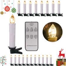 40Tlg Kabellos LED Weihnachtskerzen Christbaum kerzen Lichterkette Fernbedienung