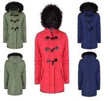 Regular Size Polyester Parkas for Women