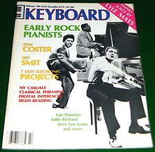 1981 KEYBOARD Magazine EARLY ROCK PIANISTS Jerry Lee Lewis, Fats, Little Richard