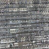 36p BISON  Bleisatz Lettern Druckerei Schrift Buchdruck 13,5 mm Letterpress Type