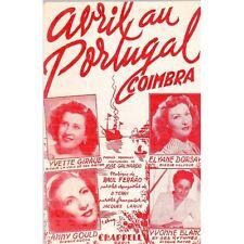 AVRIL au PORTUGAL Coimbra Paroles de José GALHARDO et Jacques LARUE  Music FERRA
