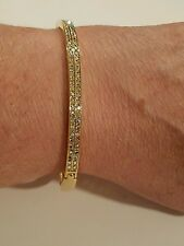 Premier Designs hinged bracelet with stones
