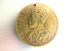 1914-1919 ENGLISH WOUNDED SOLDIERS DONATION MEDALLION GEORGE V PICTORIAL