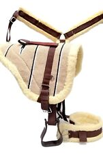 D.A. Brand Tan Navajo Bareback Pad w/ Girth/ Breast Collar Full Horse Tack