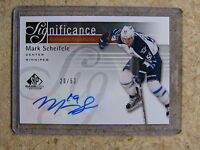 11-12 UD SPGU SP Game Used RC Rookie SIGnificance Auto MARK SCHEIFELE /50