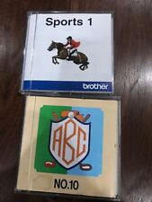 Brother Sports 1 And Bernina No 10 Embroidery Cards