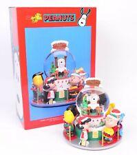 Peanuts Christmas Lighted Musical Snowglobe San Francisco Music Box Santa Snoopy