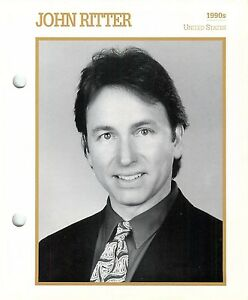 """John Ritter 1990's Actor Movie Star Card Photo Front Biography on Back 6 x 7"""""""