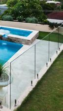 FRAMELESS GLASS POOL FENCING PANEL ONLY - 1800MM X 1200MM x 12MM